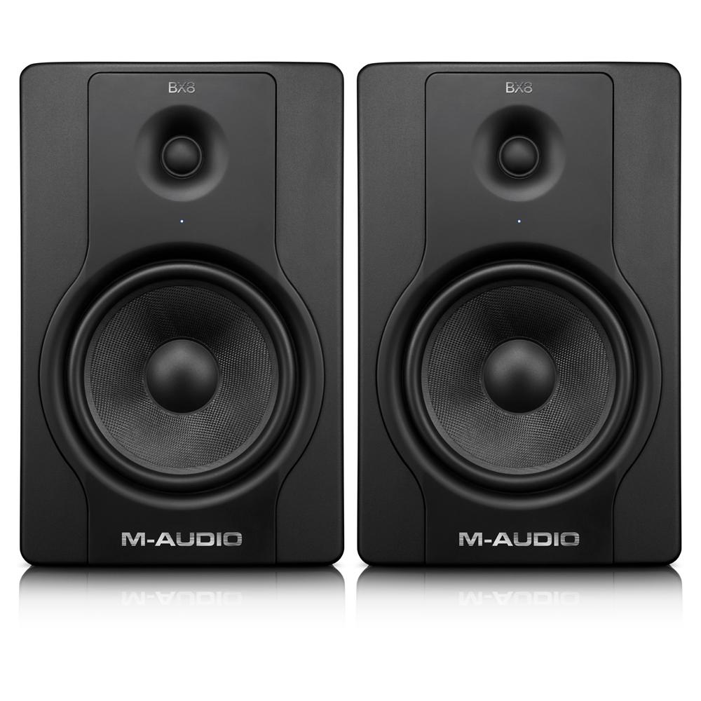m audio bx8 d2 8 inch biamplified studio monitors reference kevlar speakers 130w ebay. Black Bedroom Furniture Sets. Home Design Ideas