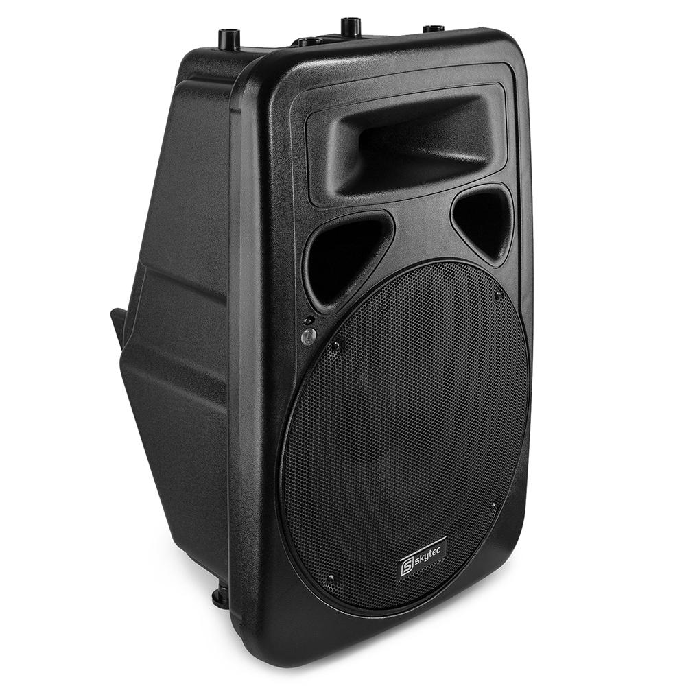 """Skytec SP1500A 15"""" Active Karaoke DJ PA Single Speaker 800W"""