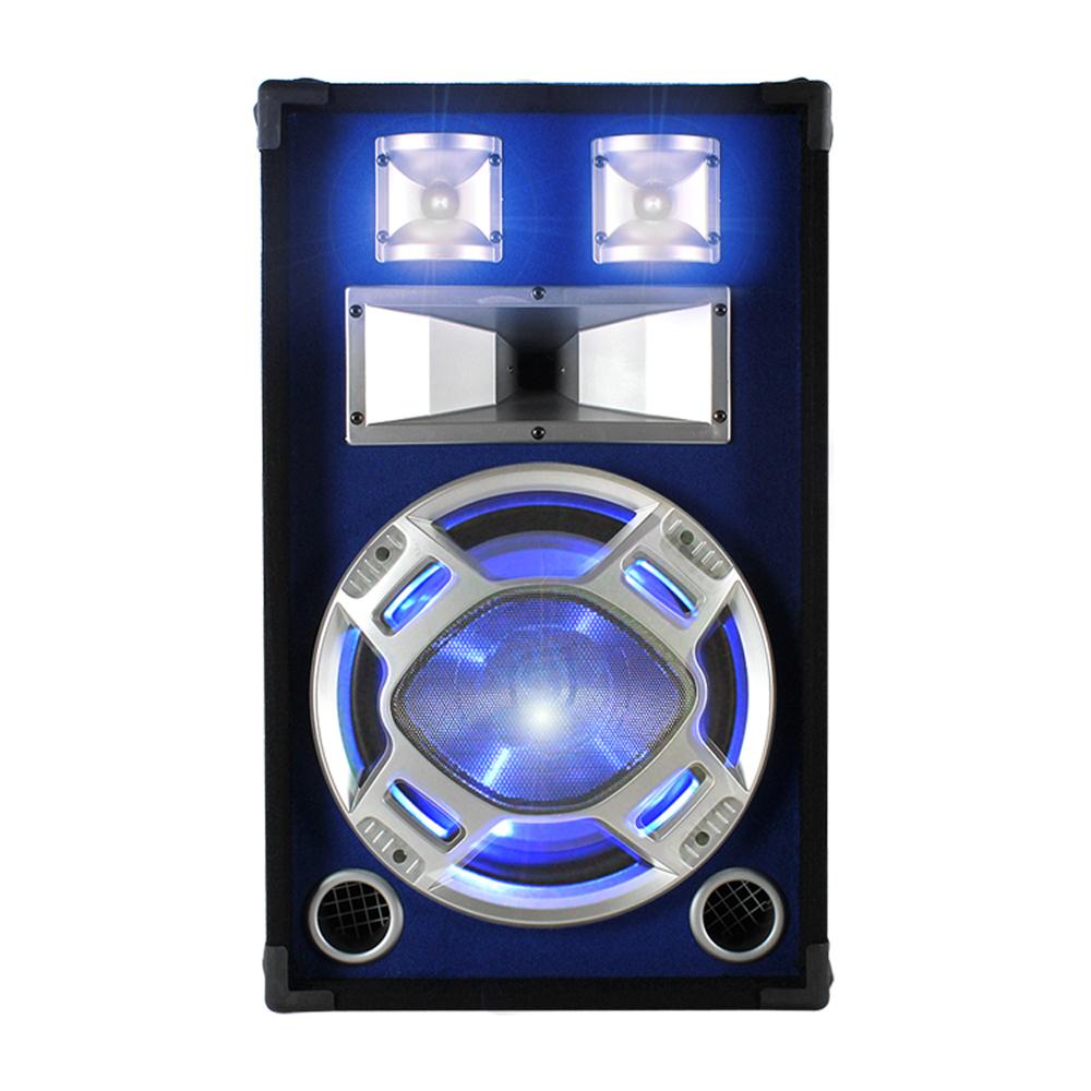 """Skytec 12"""" Passive Blue LED DJ PA Speaker 600W"""