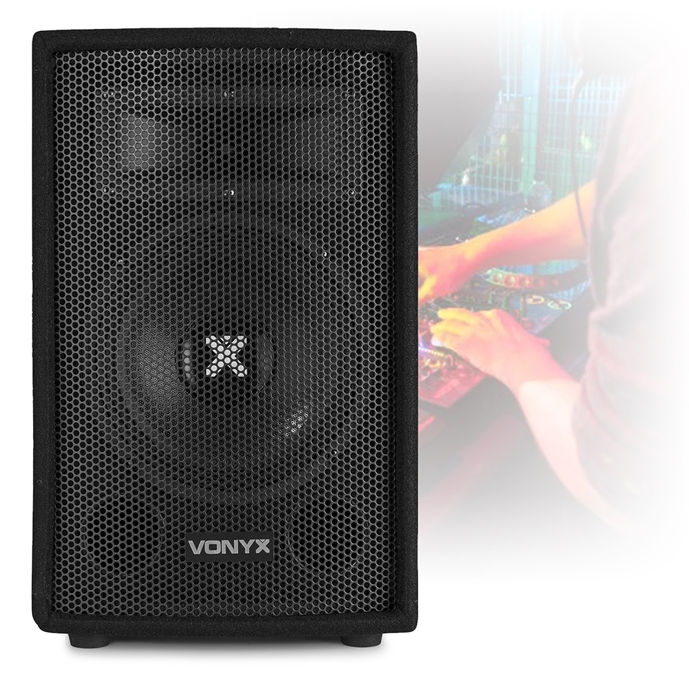 2x Skytec 8 Quot Pa Speakers 2x Speaker Stands Party Disco
