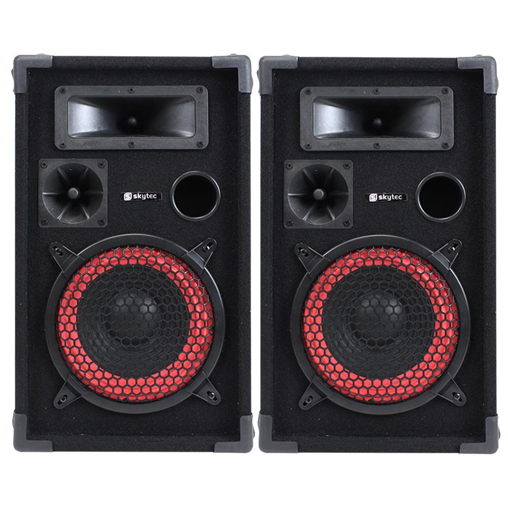 "Pair of Skytec 8"" Passive Speakers 500W"
