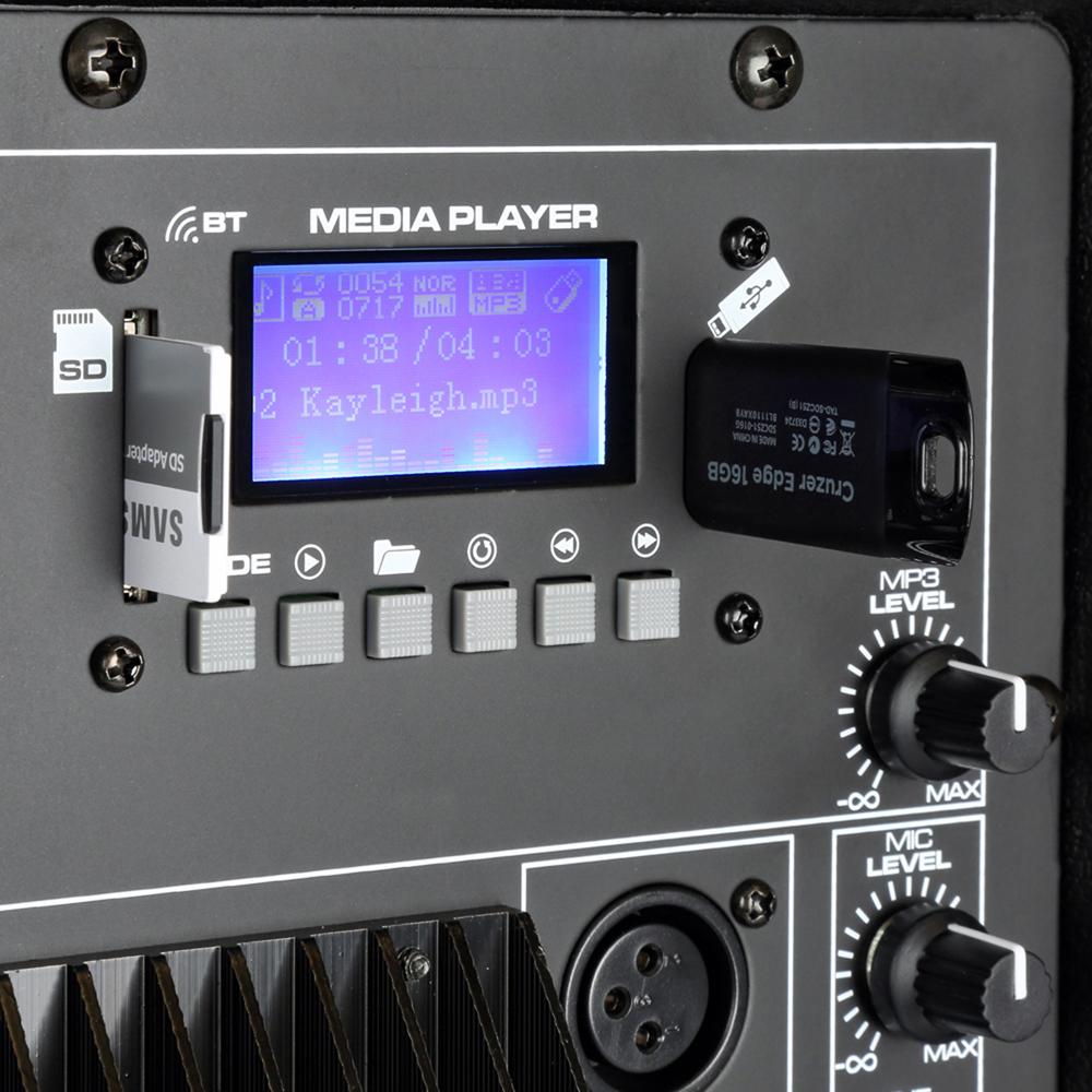 Skytec 12 Bluetooth Active Speaker MP3 USB SD DJ PA Disco