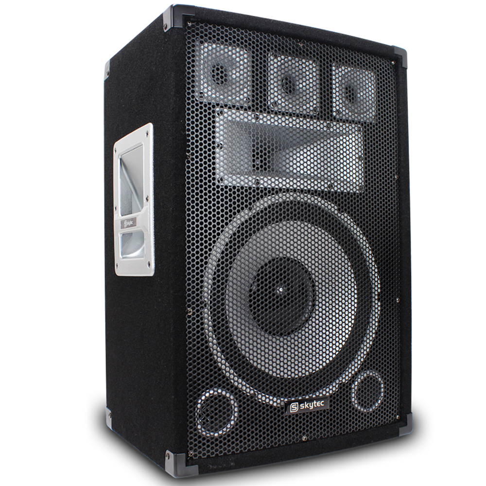 """2x Skytec 12"""" House Party Speakers Stands Bluetooth Amplifier Disco DJ System"""