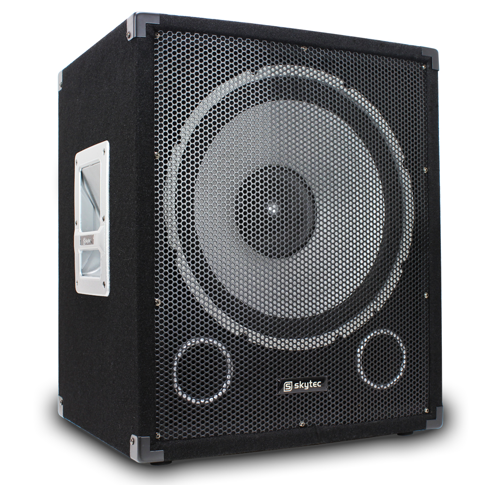 skytec 15 subwoofer passive pa dj party bass box disco. Black Bedroom Furniture Sets. Home Design Ideas