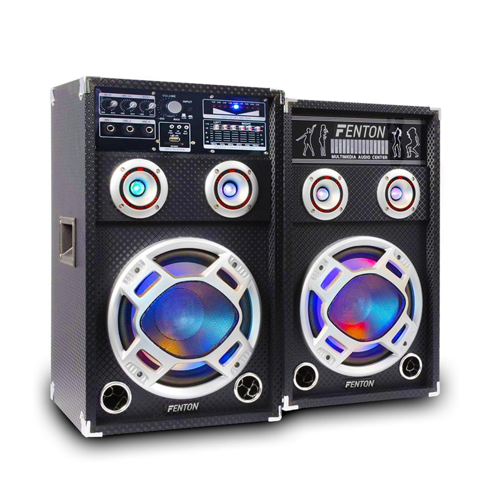 Skytec KA-06 6.5 inch LED Driver Active Speaker Set