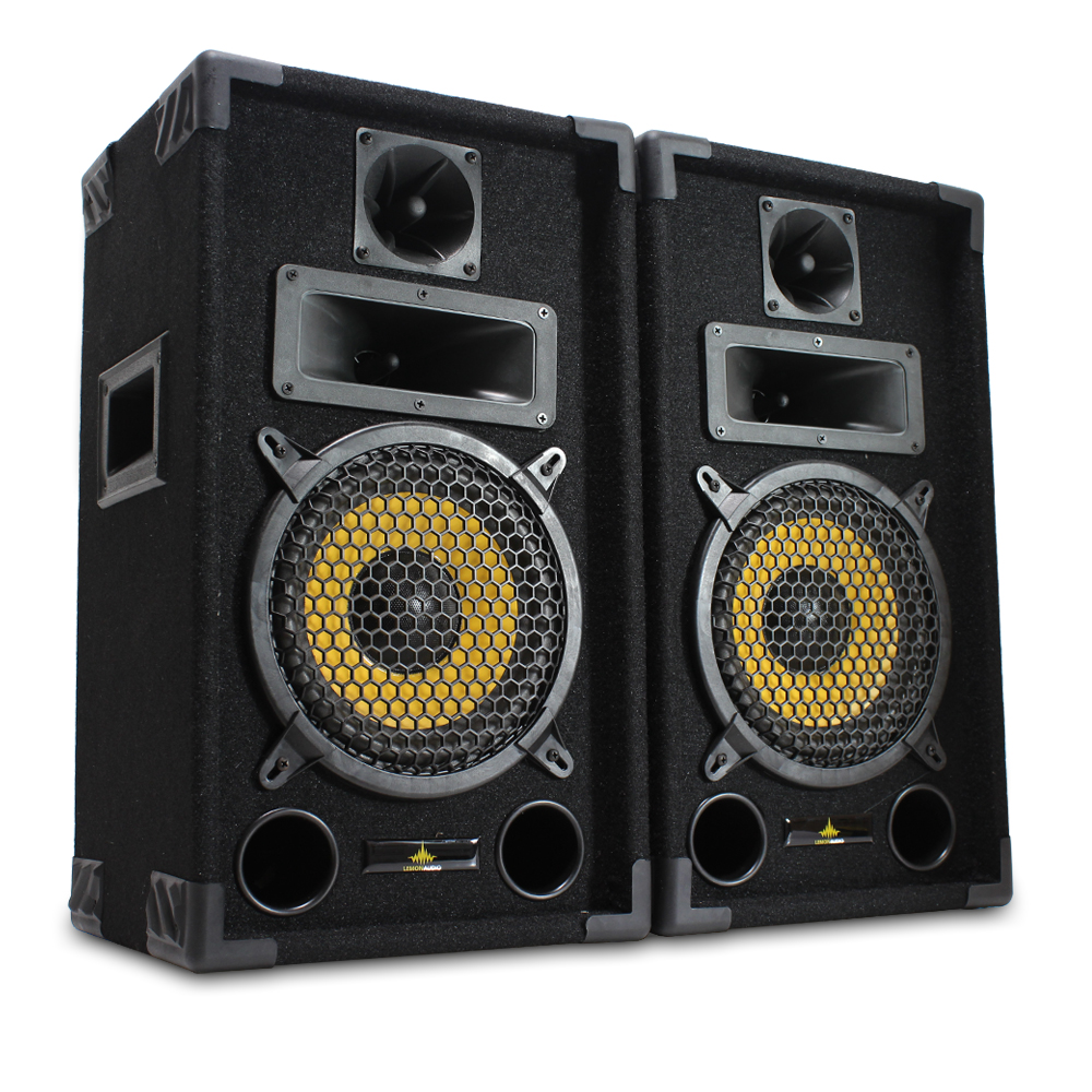 pair of lemon audio 8 eco 8 passive disco speakers mobile dj house party 600w ebay. Black Bedroom Furniture Sets. Home Design Ideas