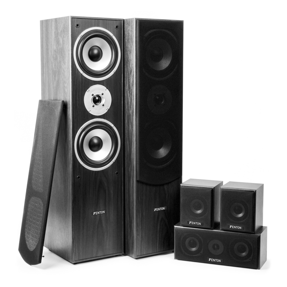 5 0 surround sound speaker system hi fi home movie theatre. Black Bedroom Furniture Sets. Home Design Ideas