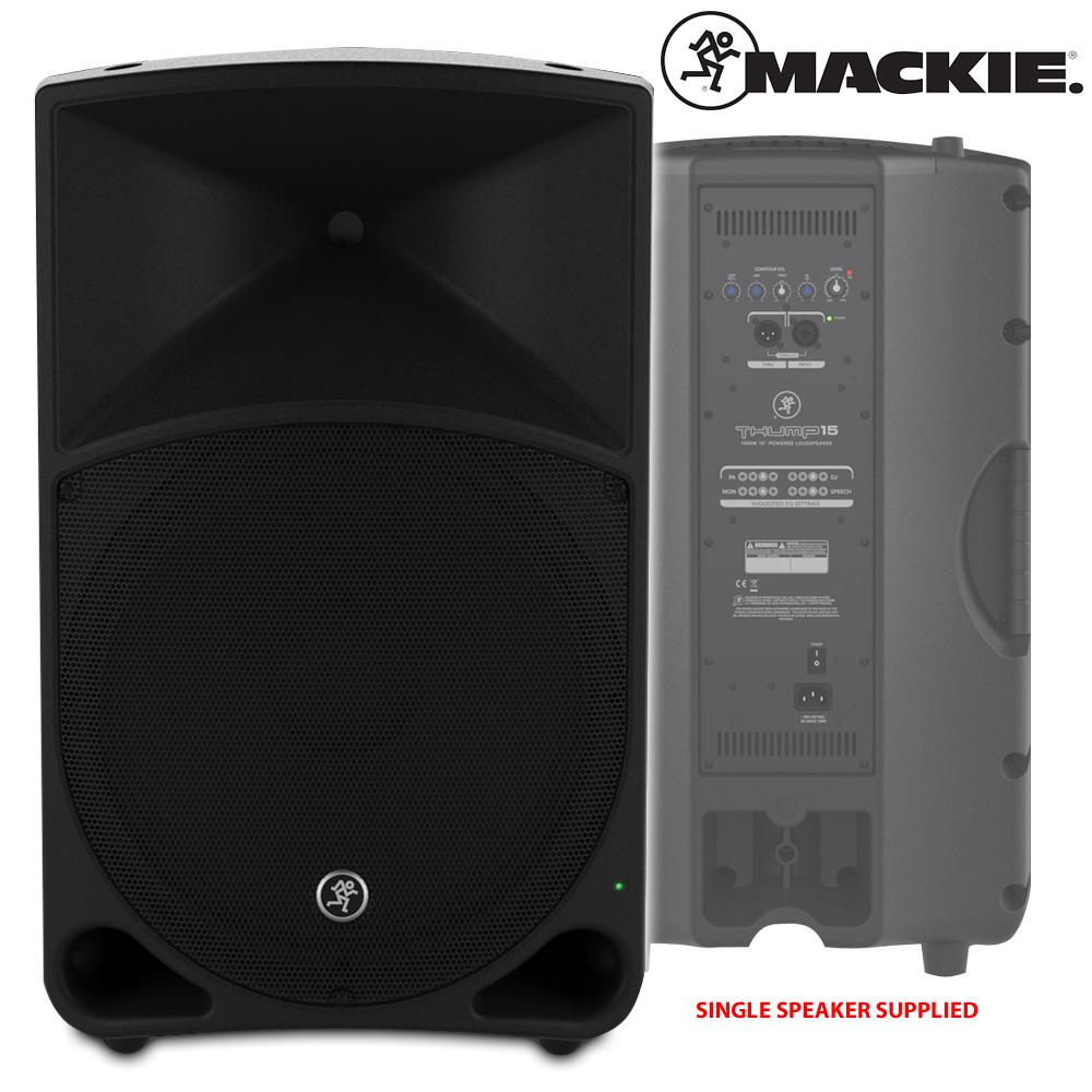 mackie thump 15 active powered dj pa speaker 18s subwoofer bass bin 2200w ebay. Black Bedroom Furniture Sets. Home Design Ideas