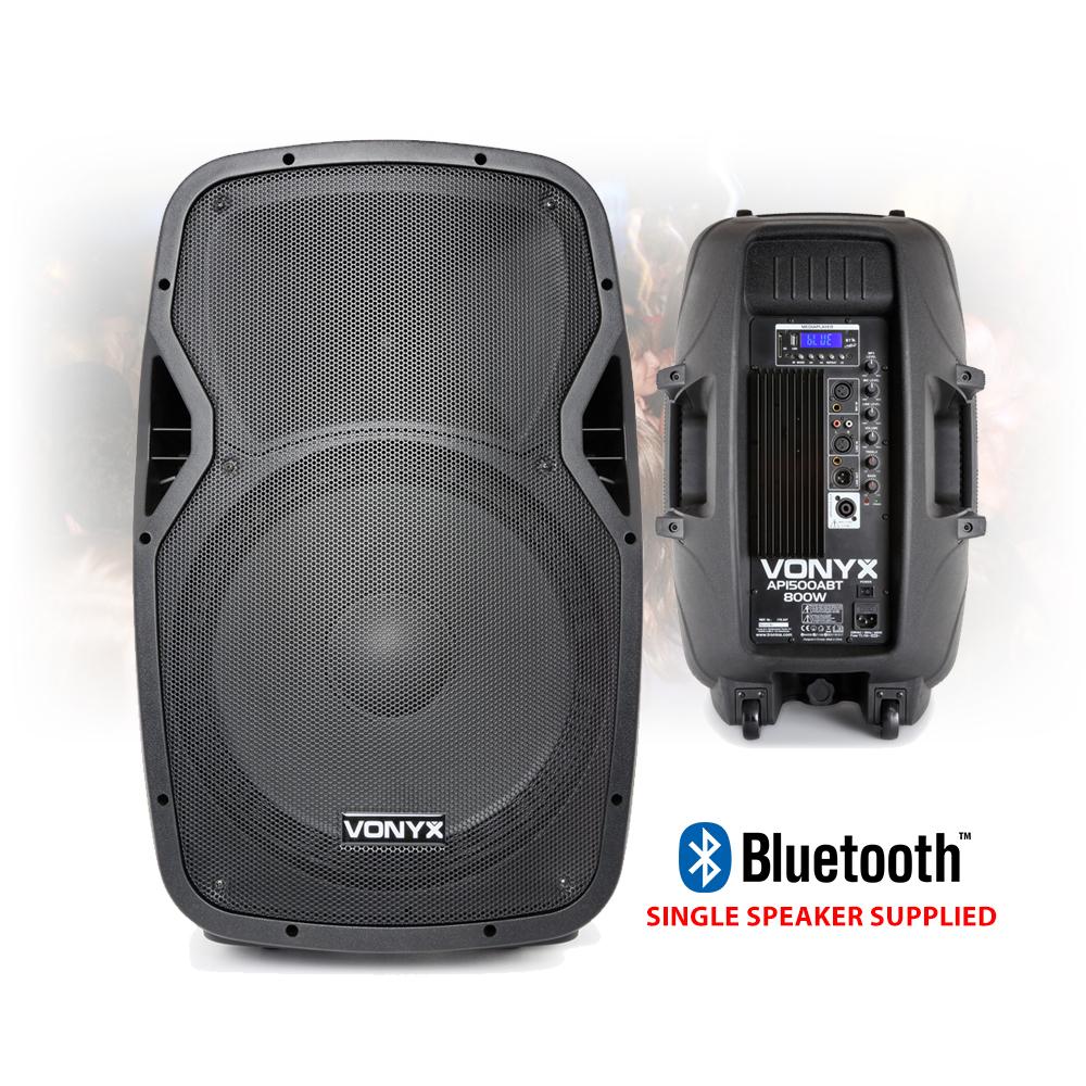 vonyx active powered dj disco pa speakers wireless bluetooth 15 1600w ebay. Black Bedroom Furniture Sets. Home Design Ideas