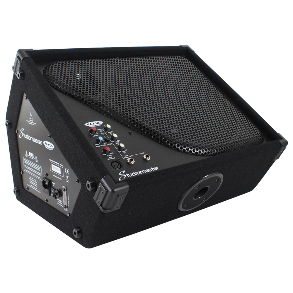 """Studiomaster PAX12+ 12"""" Active PA Stage Monitor Speaker 150W"""