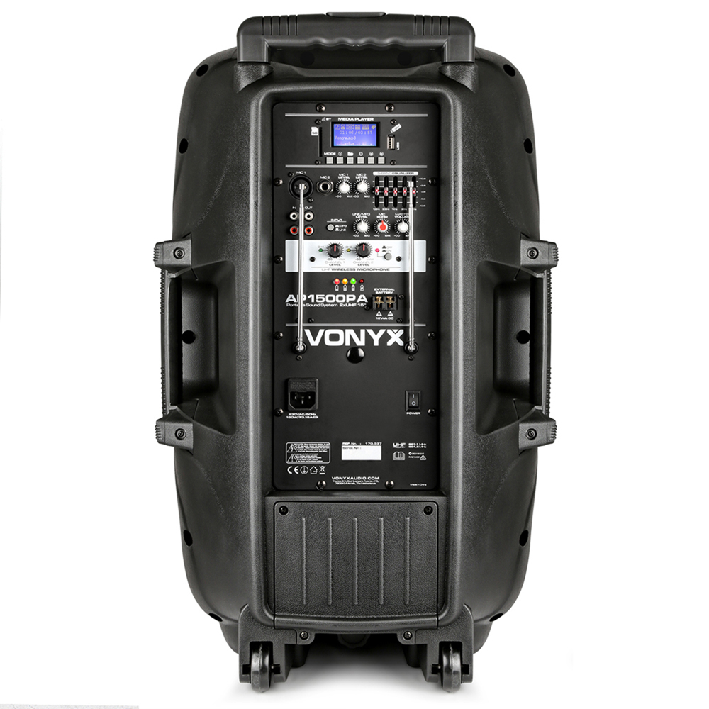 vonyx sound portable battery powered bluetooth pa system 800w wireless speaker. Black Bedroom Furniture Sets. Home Design Ideas