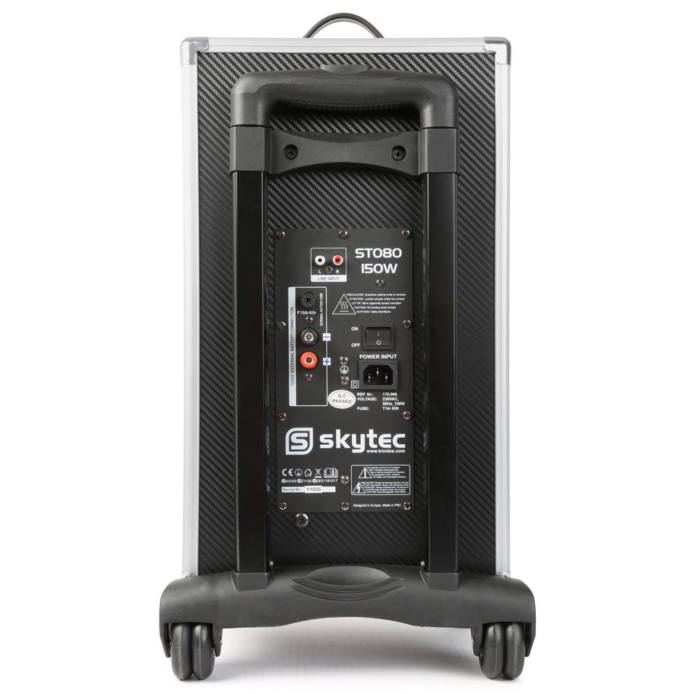 skytec st080 portable bluetooth active powered speaker system mp3 vhf microphone ebay. Black Bedroom Furniture Sets. Home Design Ideas