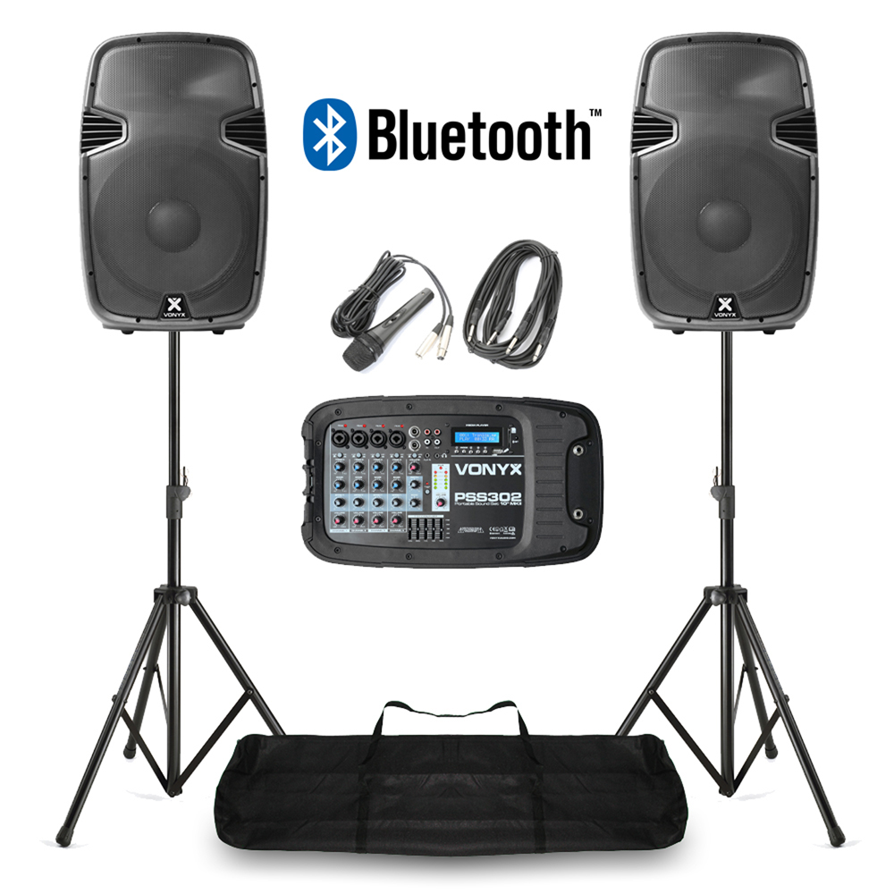 Portable Pa Speaker System Mp3 Bluetooth Amplifier Mixer