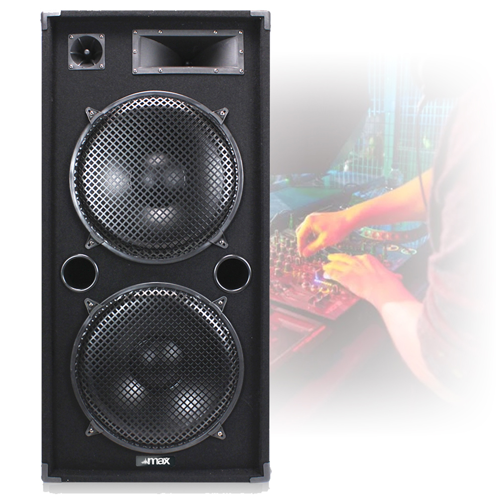 dual 15 complete dj pa party disco speakers amplifier band sound system 2000w 5055839194081. Black Bedroom Furniture Sets. Home Design Ideas