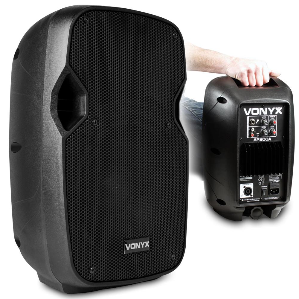 vonyx ap800a active powered pa speaker small dj monitor 8 woofer 200 watt. Black Bedroom Furniture Sets. Home Design Ideas