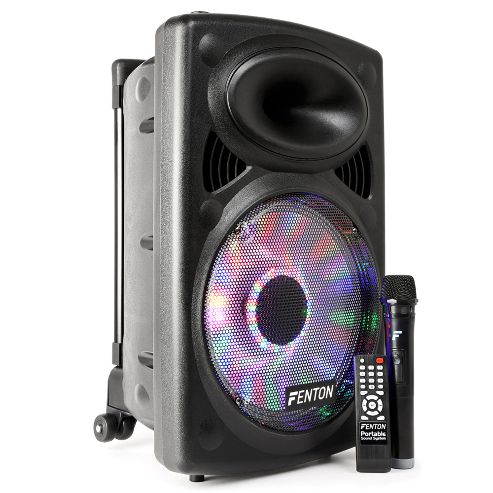 Fenton Fps12 Portable Bluetooth Pa Speaker System Aerobics