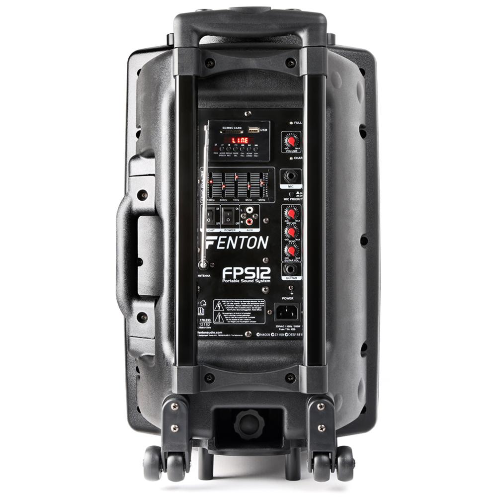 fenton fps12 portable bluetooth pa speaker system aerobics busking battery power ebay. Black Bedroom Furniture Sets. Home Design Ideas