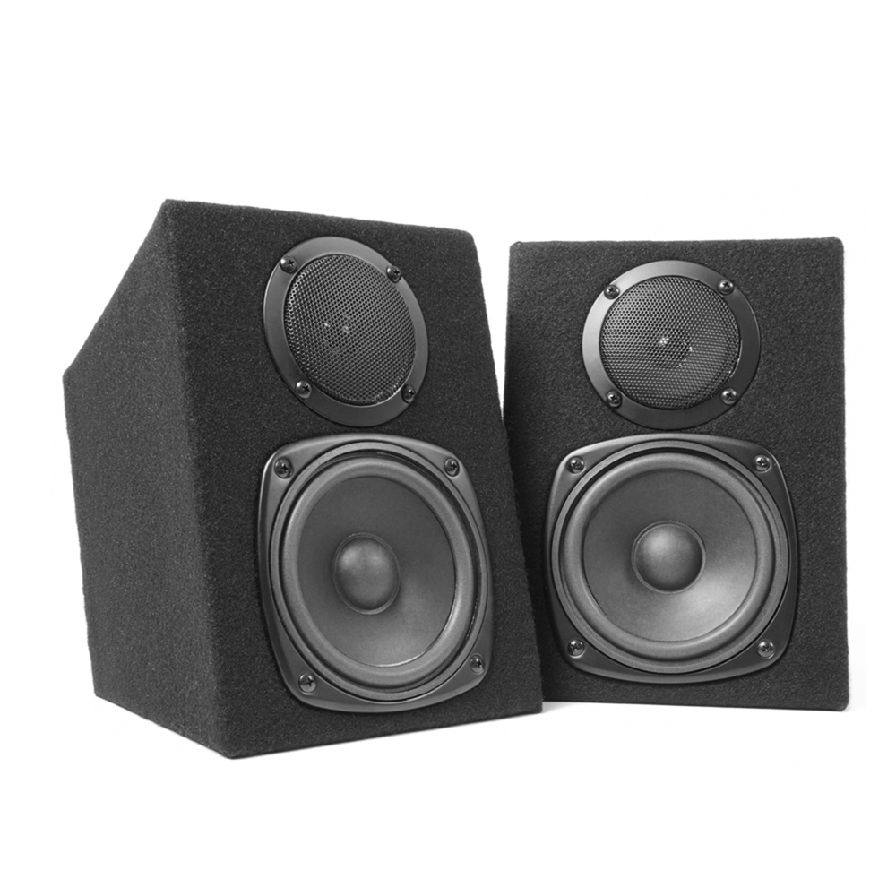 speakers studio monitor dj mc power passive fenton pair way speaker ohm amplifier 60w stereo mp3 usb fi hi cable