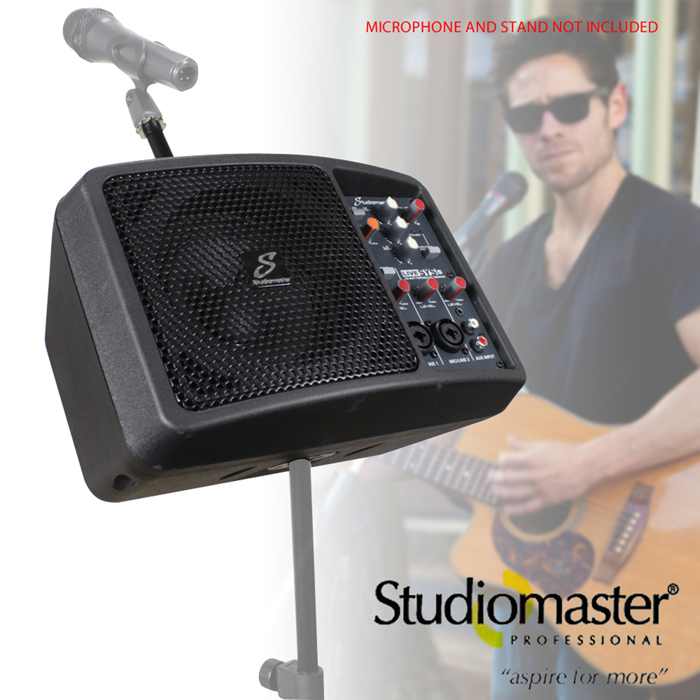 Studiomaster Livesys5 150w Portable Pa Speaker System With