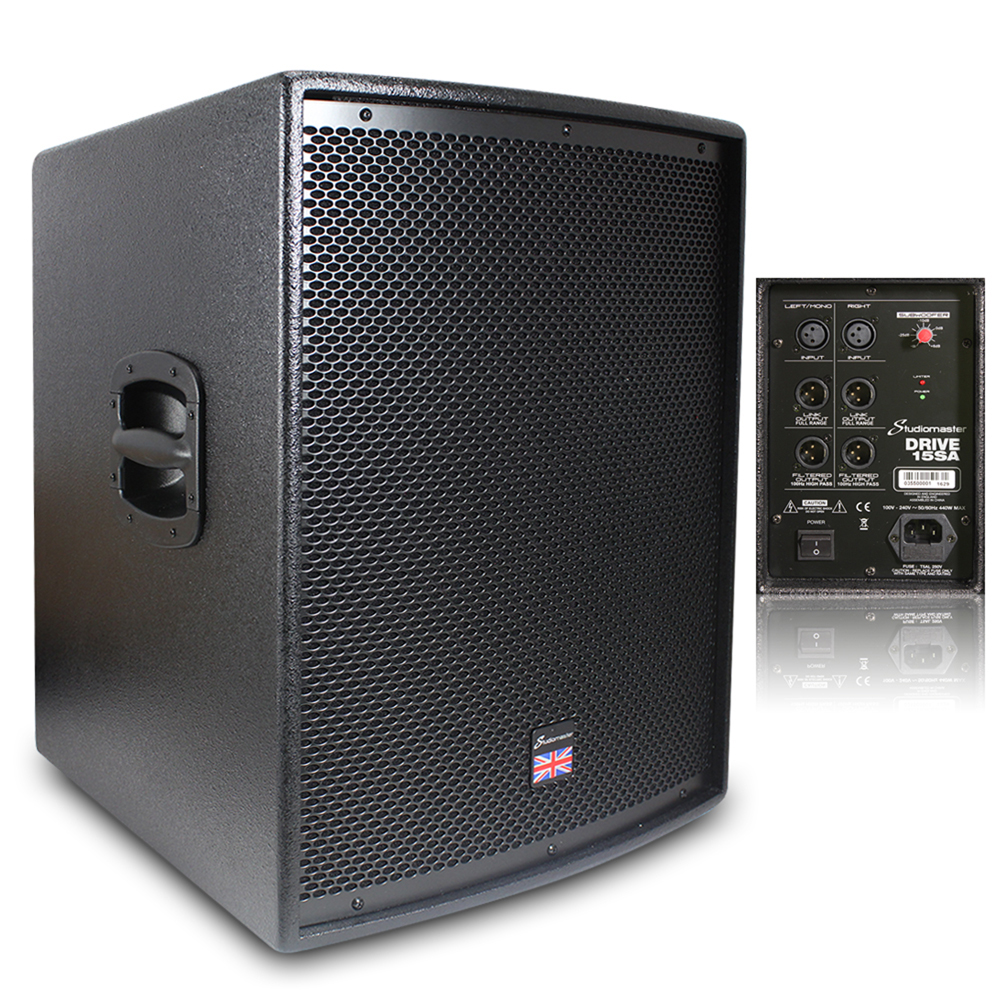 Live Sound Speakers : studiomaster drive 15sa active powered subwoofer live sound dj disco speaker 400 ebay ~ Russianpoet.info Haus und Dekorationen