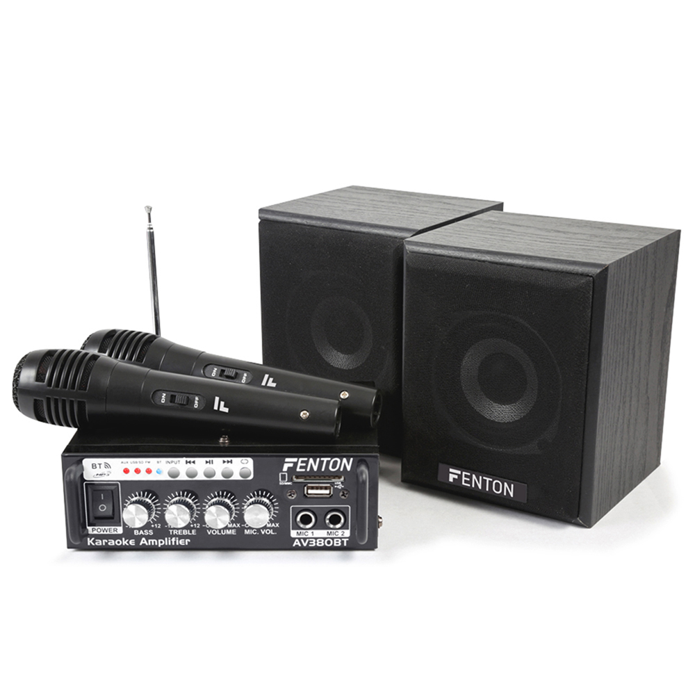 Fenton AV380BT Bluetooth Speaker and Amplifier Set