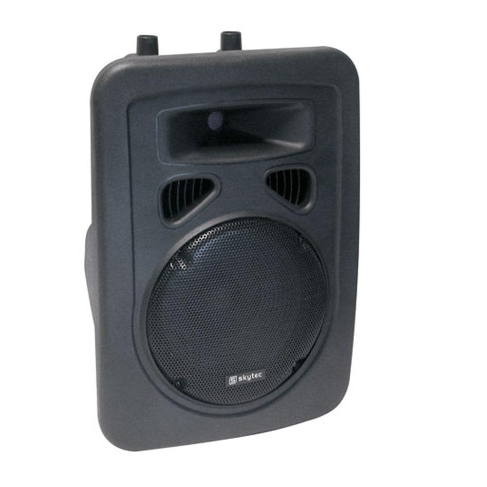 skytec speaker sp800 small pa mobile dj disco karaoke party loudspeaker 8 200w. Black Bedroom Furniture Sets. Home Design Ideas