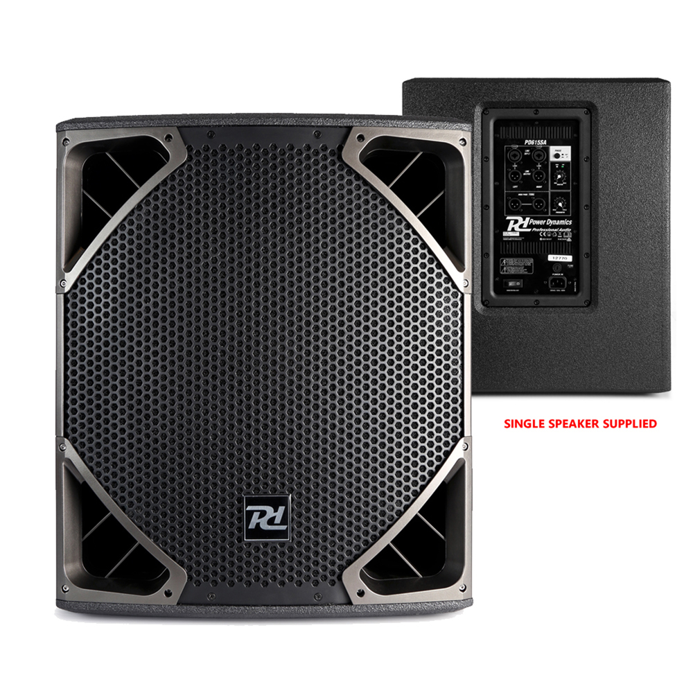 Details about PA System Setup DJ Club Install Twin Cone 15 Speakers 15