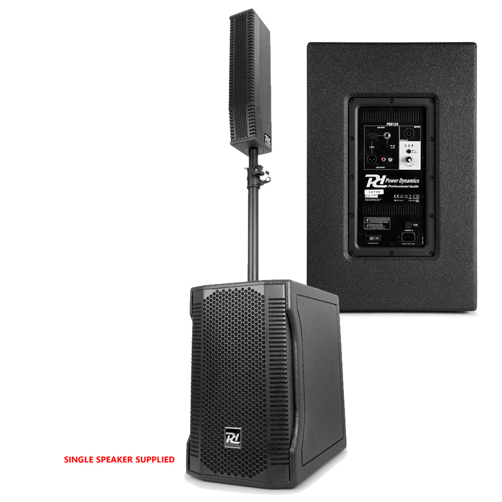 line array speaker portable pa system install subwoofer dj 12 woofer 800w biamp ebay. Black Bedroom Furniture Sets. Home Design Ideas