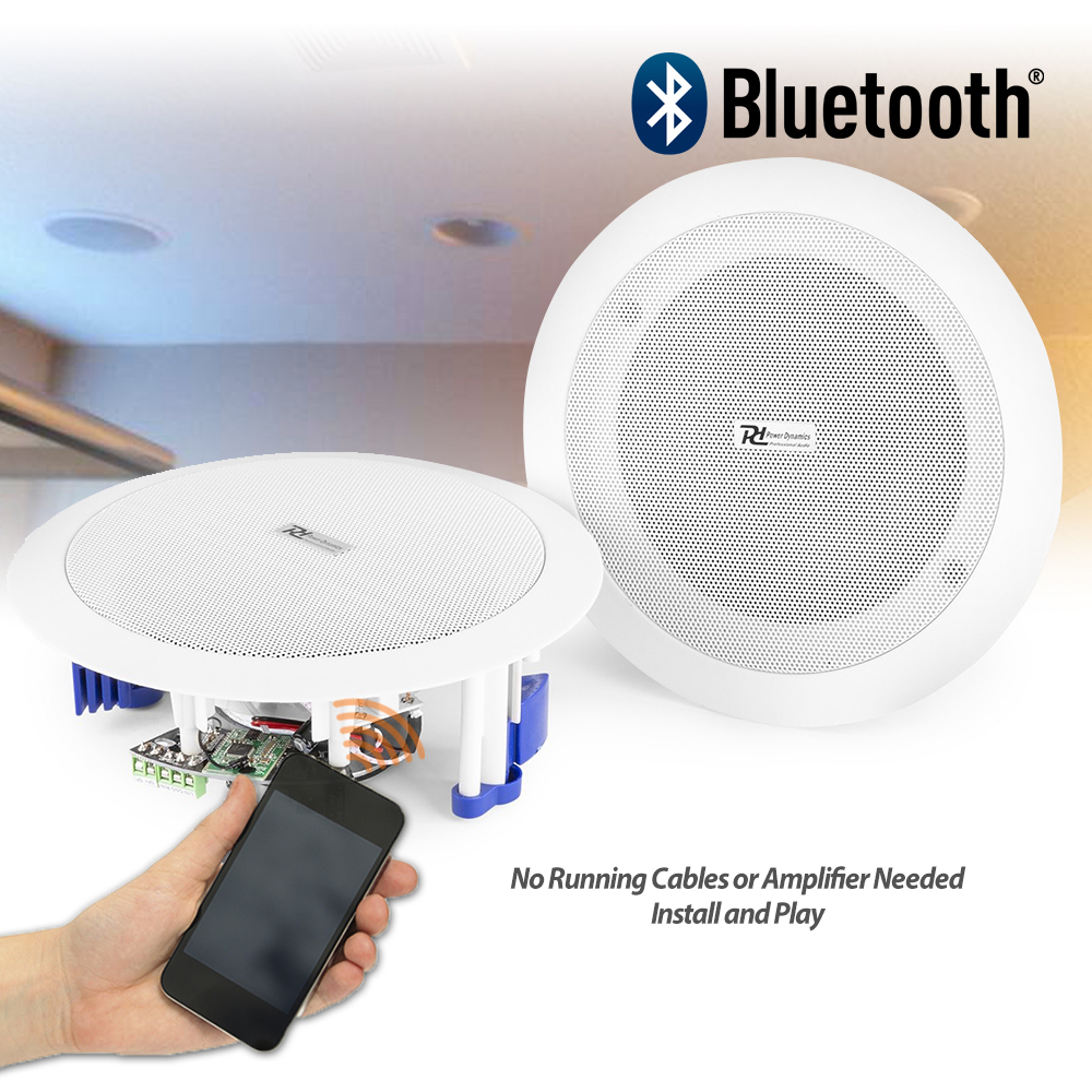 Flush Ceiling Speakers 60w Wireless Bluetooth Audio Streaming Home Audio Bedroom Ebay