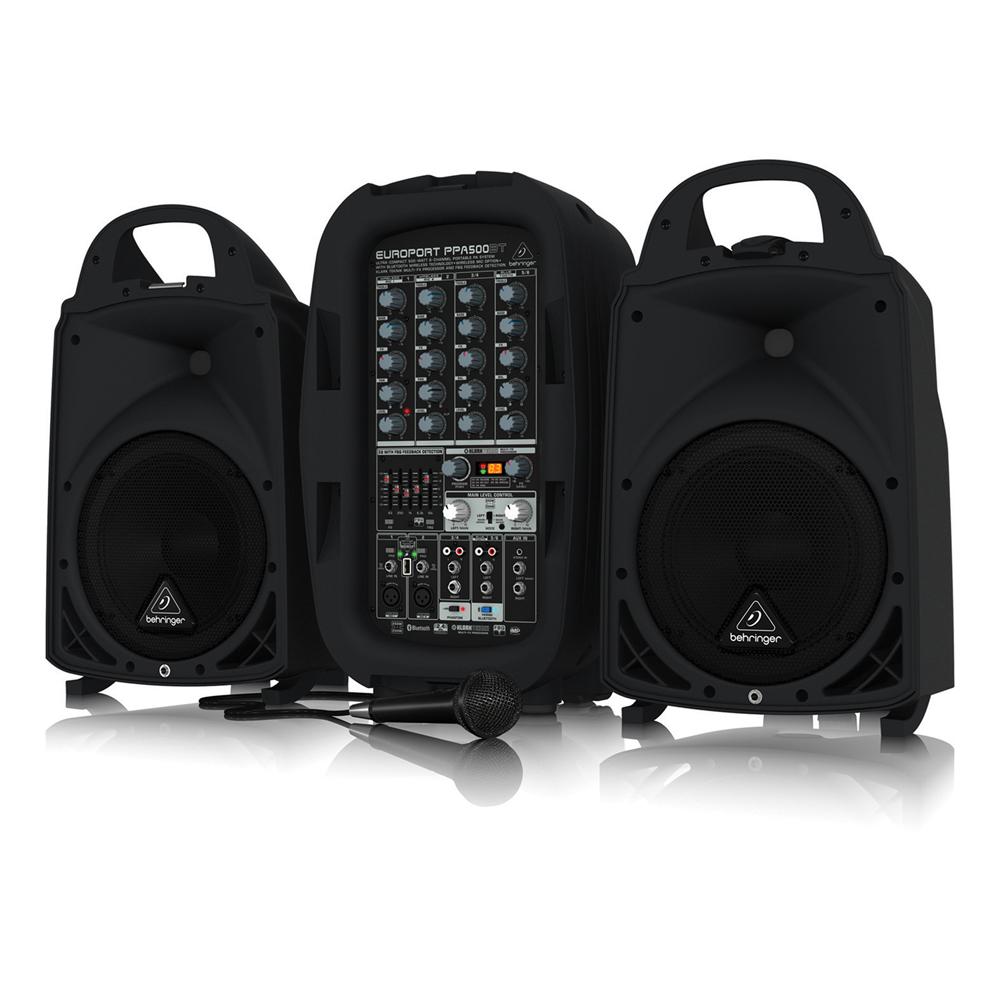 behringer europort ppa500bt portable 6 channel pa speaker system 500w ebay. Black Bedroom Furniture Sets. Home Design Ideas
