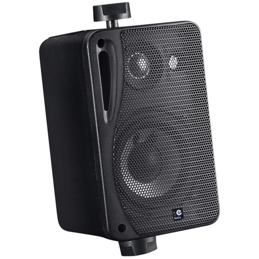 E-Audio B416B 3 Black 3-Way Background Music Speakers with Brackets 80W