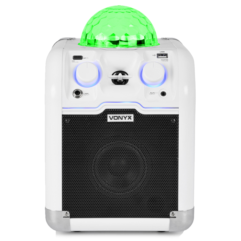 Vonyx 178.353 SBS50W Party Speaker RGB LED Ball White