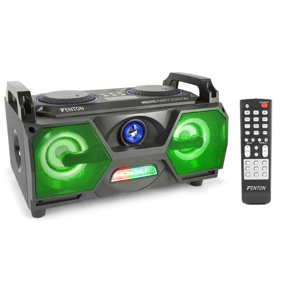 Fenton MDJ115 3 inch Portable Bluetooth Boombox