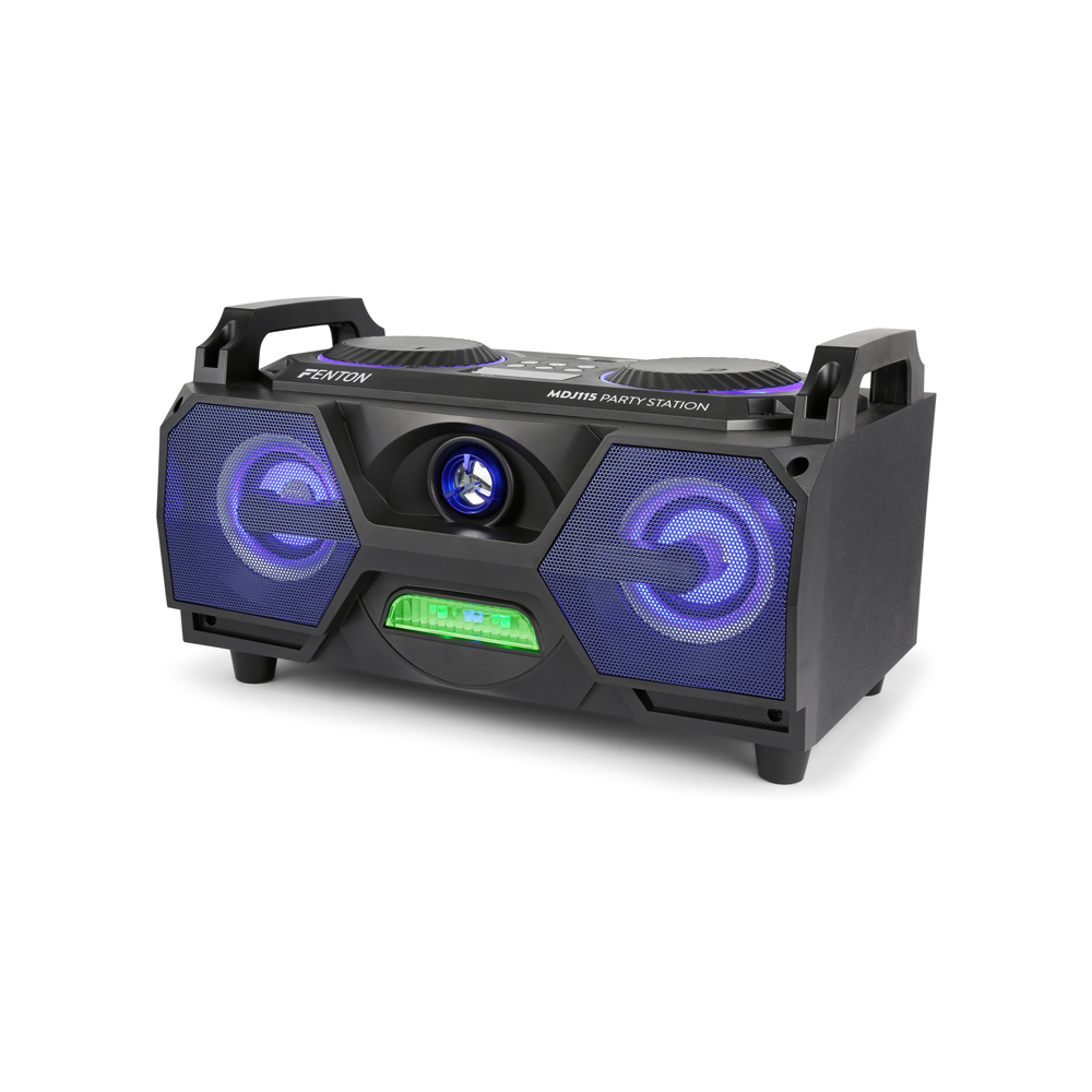 Portable Stereo Boombox Bluetooth Speaker Usb Built In Led