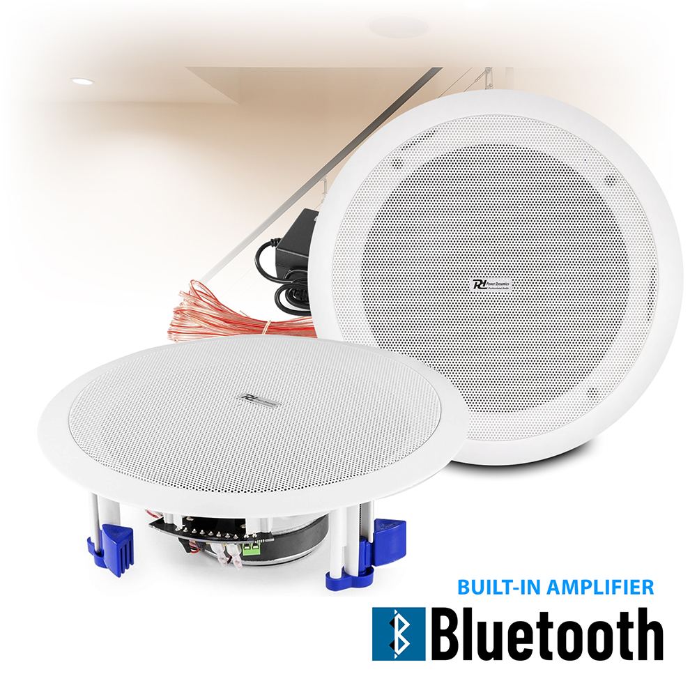 Wireless Streaming Bluetooth Ceiling Mount Speakers Built In Amplifier 8 60w