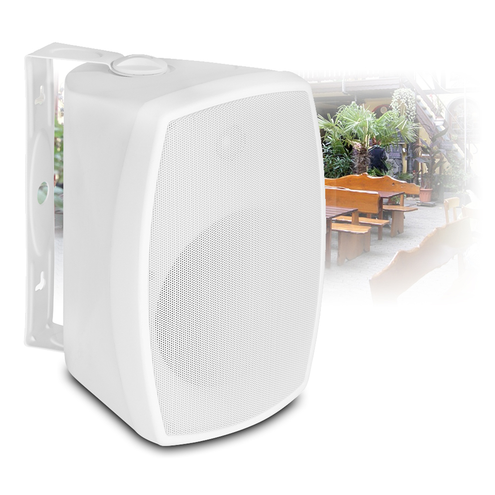 4x White Wall Mountable Speakers Weatherproof 100v Line 8
