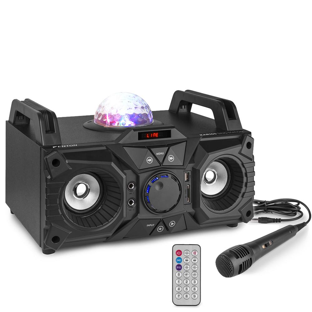 Fenton KAR100 Karaoke Machine Party Speaker