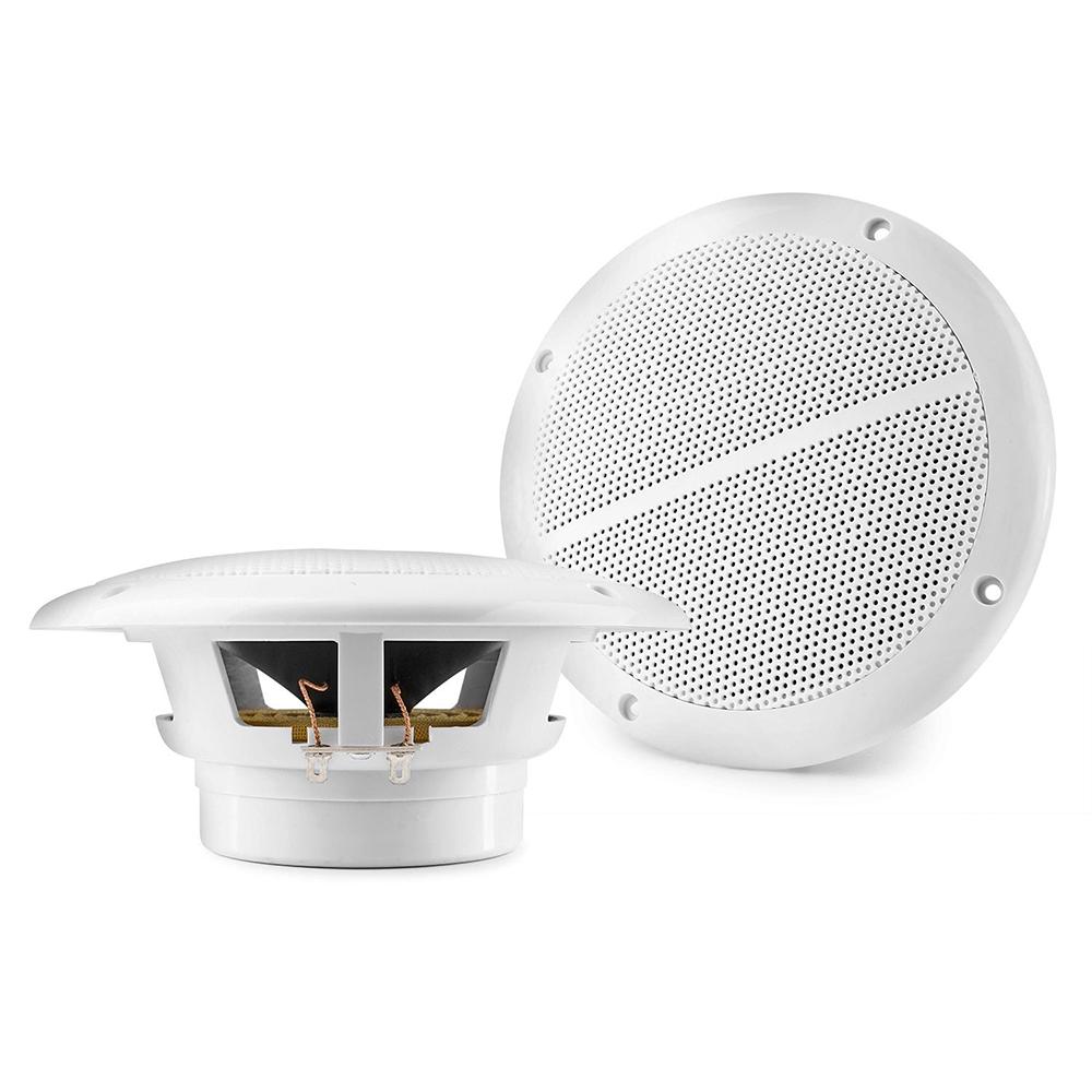 "Vonyx 6.5"" Waterproof Passive Ceiling Speakers Pair, White"