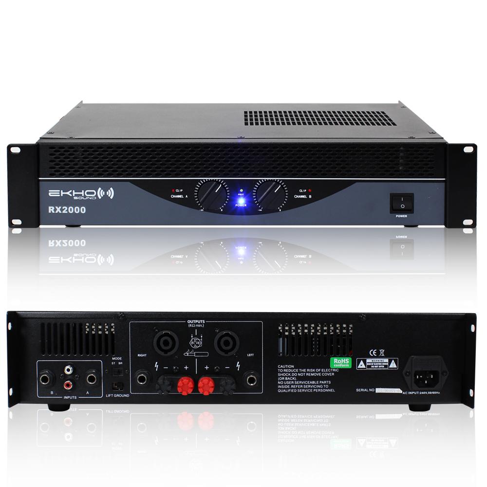 New-Ekho-Pro-RX2000-Power-Amplifier-DJ-Disco-PA-Sound-System-Bridge-Amp-2000W