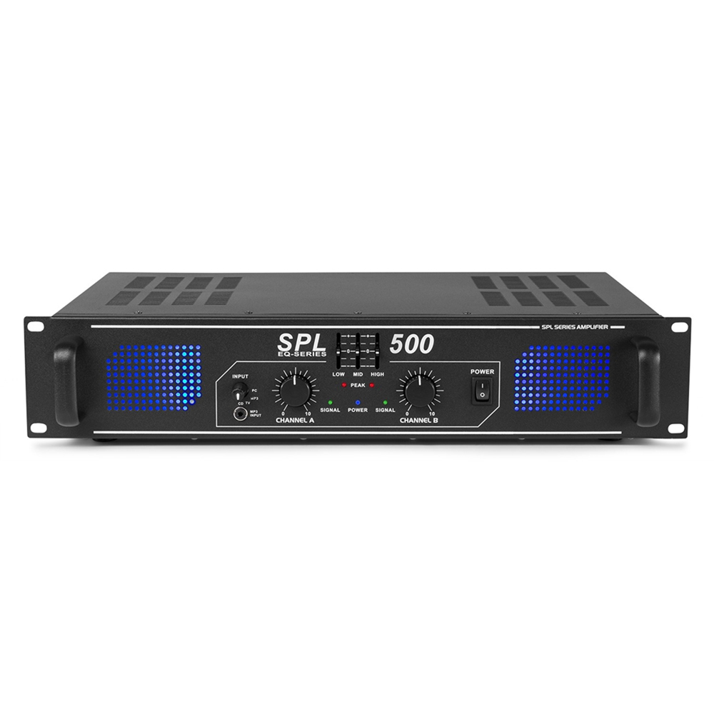 Skytronic SPL500 DJ Disco PA Amplifier 500W
