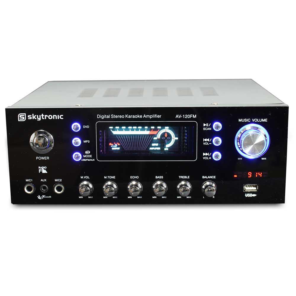 Skytronic Fm Tuner Usb Mp3 Stereo Karaoke Home Audio Hi Fi