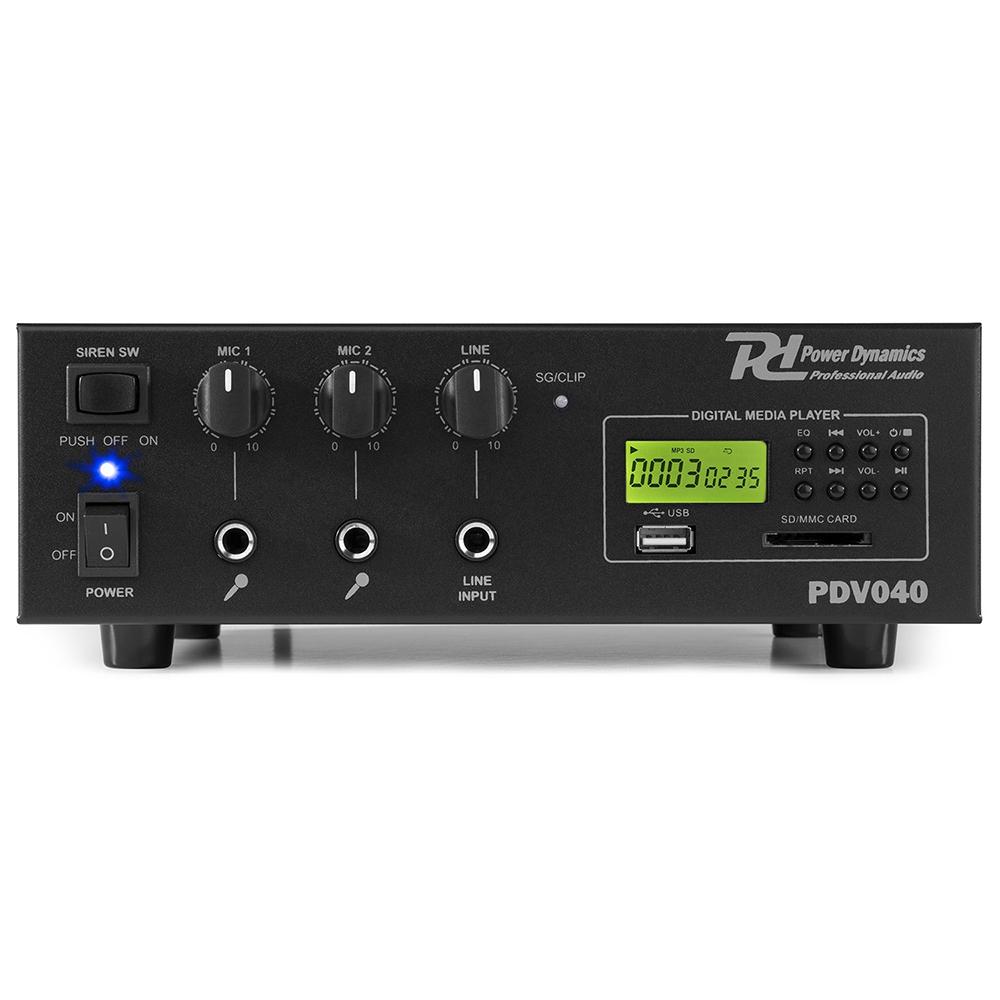 Pa Amplifier 40w 8 Ohm 70 100 Volt Line Installation 240v