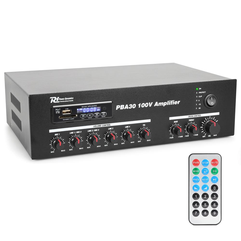 Power Dynamics 952.090 PBA30 100V Line Amplifier 30W