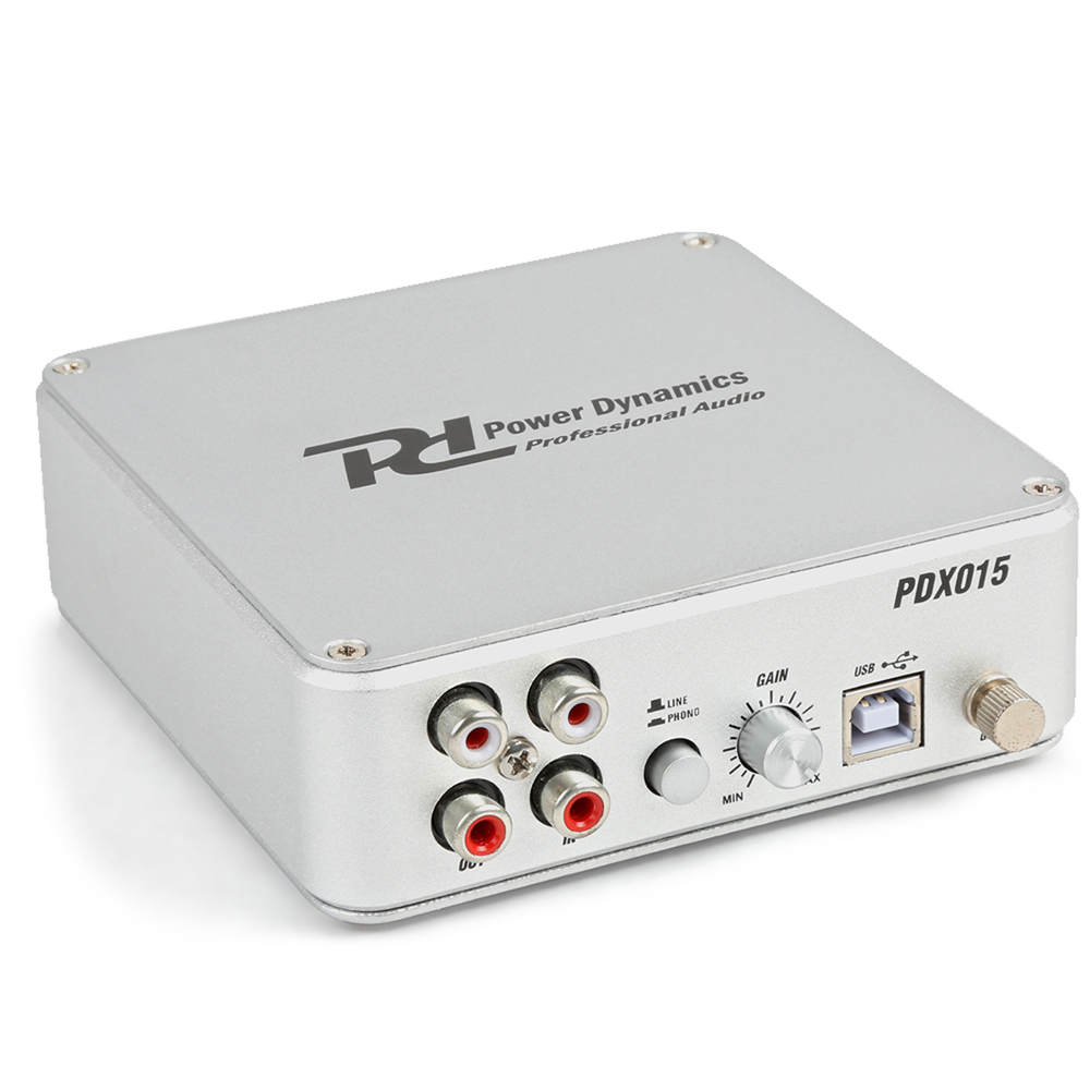 Power Dynamics PDX015 USB Phono Pre-amplifier with Software