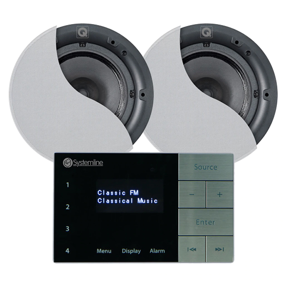 "Systemline E100 6.5"" Bluetooth Ceiling Speaker & Amplifier System"