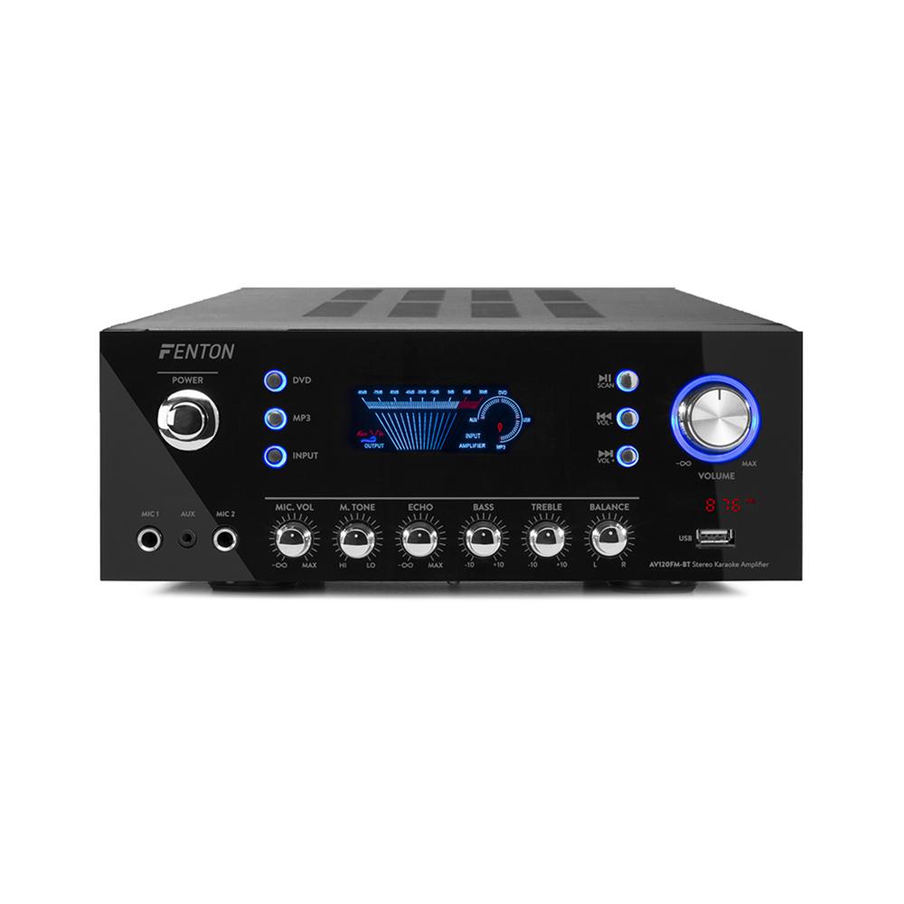 HiFi Stereo Amplifier - Fenton AV120FM-BT  - Bluetooth - 120W