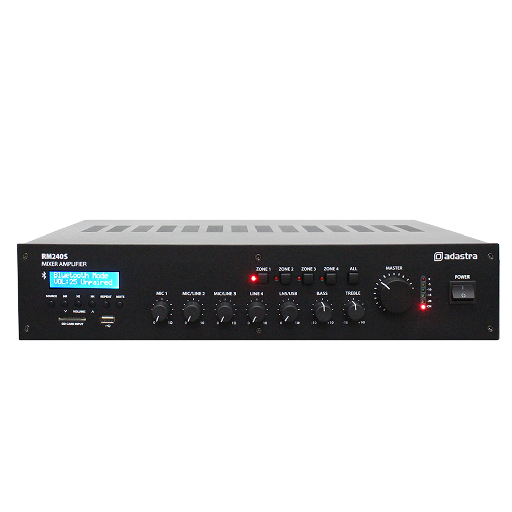 Adastra RM 5-Channel 100V Mixer Amplifier with Bluetooth RM240S