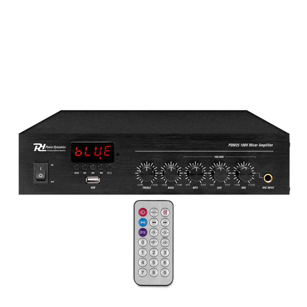 PD PDM25 100V Bluetooth Mixer-Amplifier