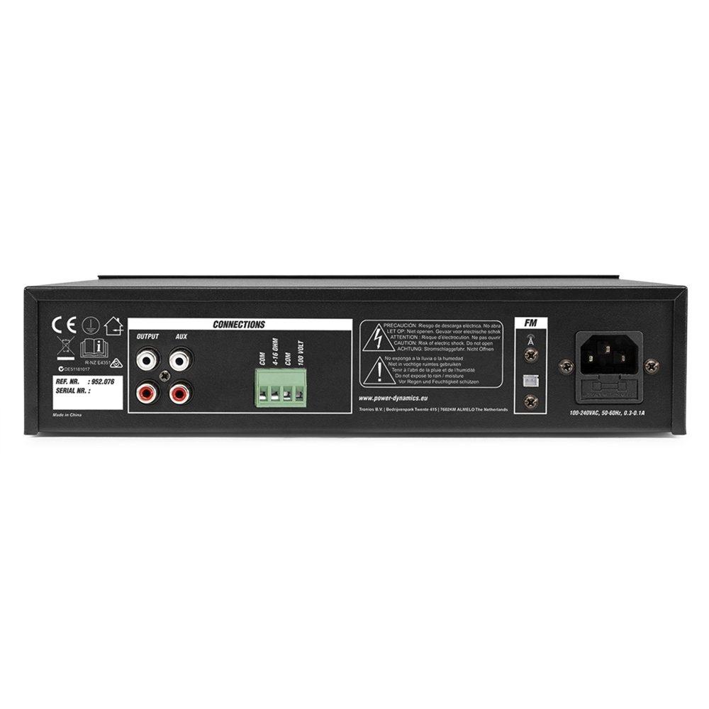 PDM25 100V Amplifier Mixer Amp FM Bluetooth PA System for Speaker Installation