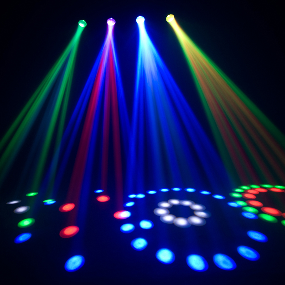 Chauvet 4PLAY Professional DMX RGB LED Moonflower DJ Disco Light Lighting Sys